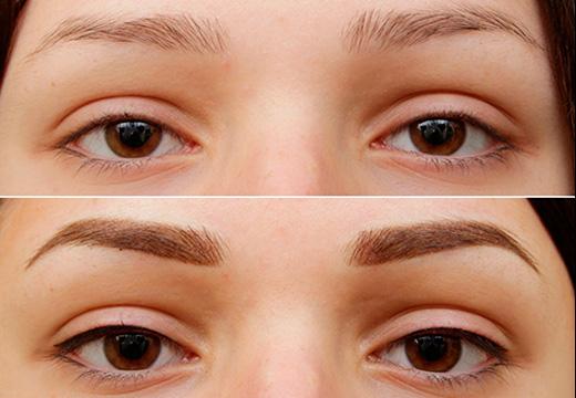 макияж тенями до после