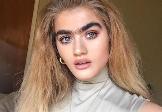 блондинка с монобровью