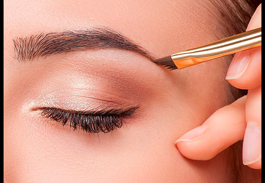 макияж тенями для бровей