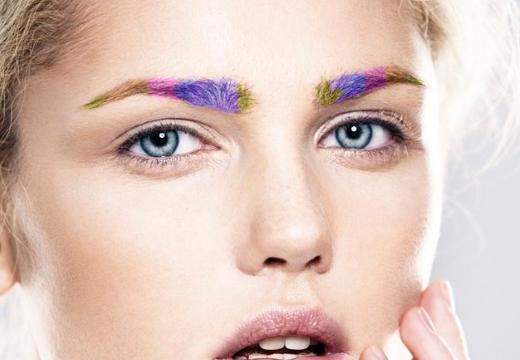 разноцветный брови