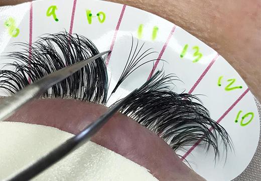 техника наращивания ресниц
