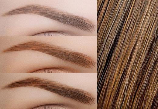 оттенки бровей для каштановых волос