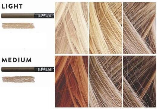 цвет карандаша для бровей светлые волосы
