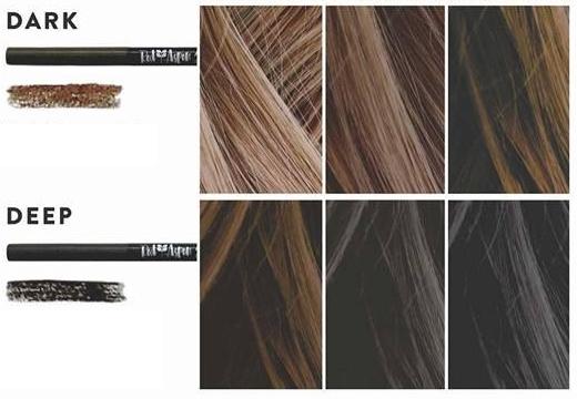 цвет карандаша для бровей темные волосы