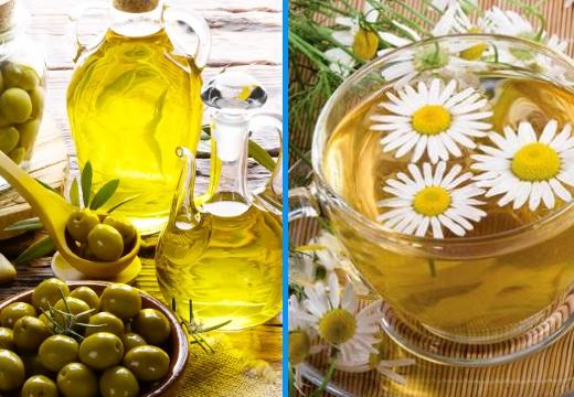 оливковое масло настой ромашки