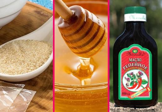 желатин мед масло репейное