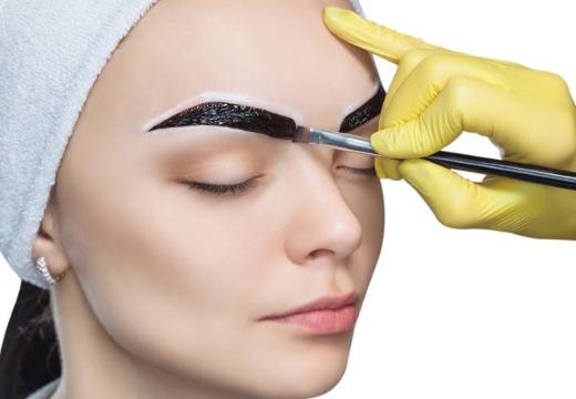окрашивание бровей процедура