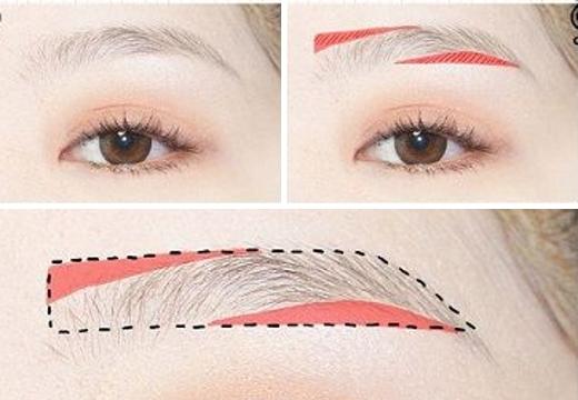 форма корейских бровей