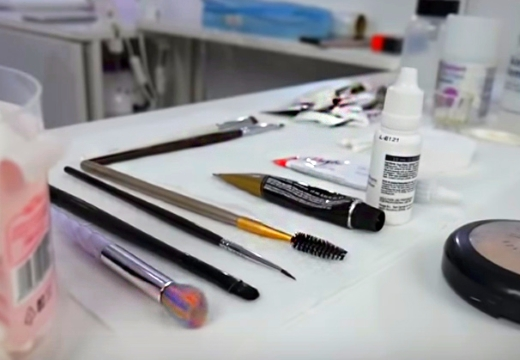 инструменты для окрашивания бровей