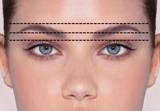симметричность бровей