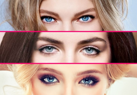 голубые глаза у девушек
