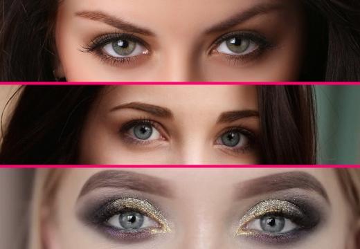 серые глаза у девушек