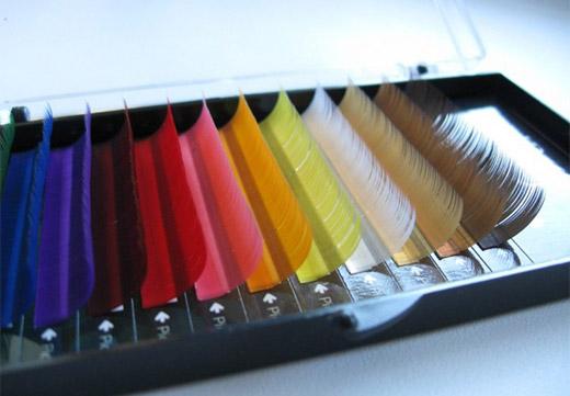 разноцветные ресницы